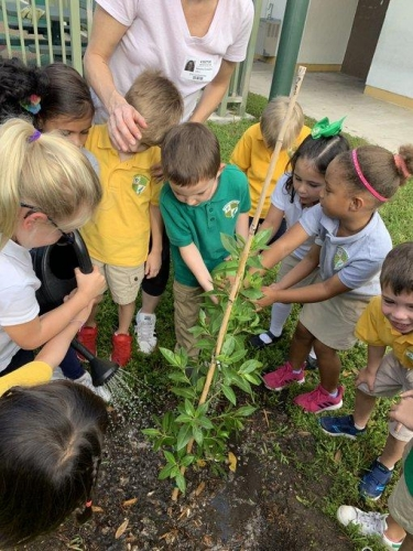 Kindergarten Students learning to become global citizens